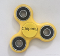 High speed Stress Reliver Fidget Spinner with Plastic three bearing Toy Spinner