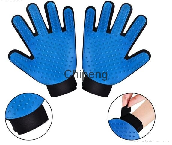 Five Star Soft Rubber And Breathable Mesh Groming Efficient Hair Remover Mitt Ma 2