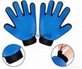 Five Star Soft Rubber And Breathable Mesh Groming Efficient Hair Remover Mitt Ma