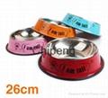 Multicolored stainless steel paint cartoon printing pet food basin dog bowl  2
