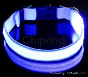 LED USB Rechargeable Dog Shock Collar, USB Rechargeable LED Flashing Dog Collar  6