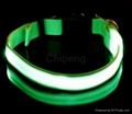 LED USB Rechargeable Dog Shock Collar, USB Rechargeable LED Flashing Dog Collar  5