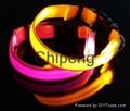 LED USB Rechargeable Dog Shock Collar, USB Rechargeable LED Flashing Dog Collar  4