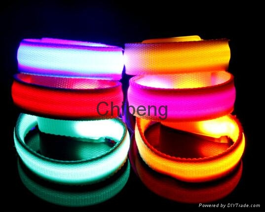 LED USB Rechargeable Dog Shock Collar, USB Rechargeable LED Flashing Dog Collar  2