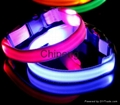 LED USB Rechargeable Dog Shock Collar, USB Rechargeable LED Flashing Dog Collar