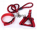 Hot Sale Heavy Duty Dog Collar Leash with dog Harness &Traction Rope Leash 3 pcs