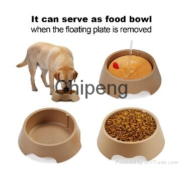 No Spill Dripless Water Bowl for Dogs and Cats, Slow Feeder & Pet Food Bowl, 190 3