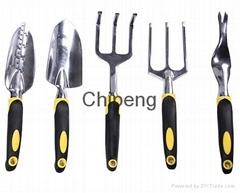 Garden 5 Piece Garden Tool Set;Aluminium Ally Fork,Aluminium Ally Spade, Lawn