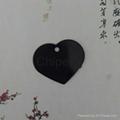 Black large heart tag Pet Dog ID Tag DOG TAGS 1601023  2