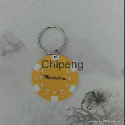Colorful Plastic Chip Jetton Keychain Wafer tag ROUND TAGS 1601020  4