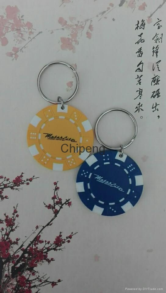 Colorful Plastic Chip Jetton Keychain Wafer tag ROUND TAGS 1601020  2