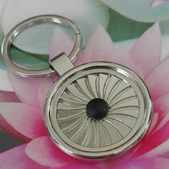 Circular black point spiral Zinc Alloy Keychain  1610005