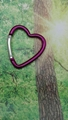 Medium peach heart design keychain 1607249