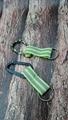 Carabiner to reflective stripe strap keychain 1608001