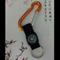 Carabiner to compass keychain 1608004