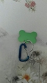 Carabiner to bone tag keychain1608023
