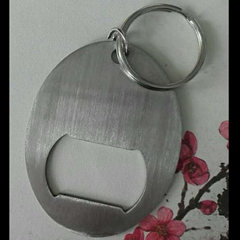 ss oval bottl opener key
