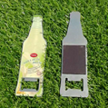 magnetic ss bottle shape beer opener with epoxy dome 1613830