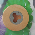 Round Wood Bottle Opener Magnetic Round Wood Coaster Bottle Opener