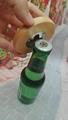 Round Wood Bottle Opener Magnetic Round Wood Coaster Bottle Opener 4