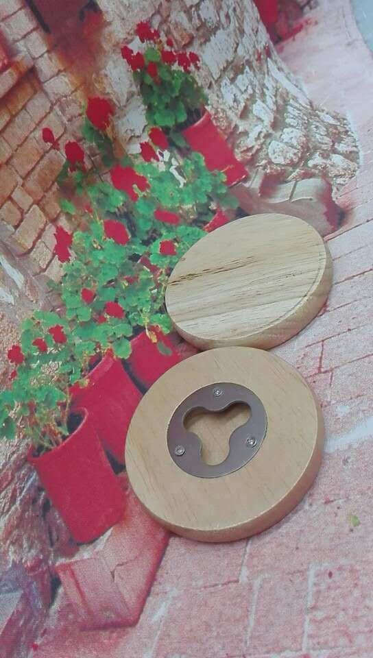 Round Wood Bottle Opener 1613859 6