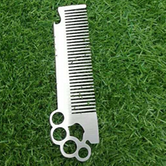 Stainless Steel Self Defense Comb Bottle opener 1613872
