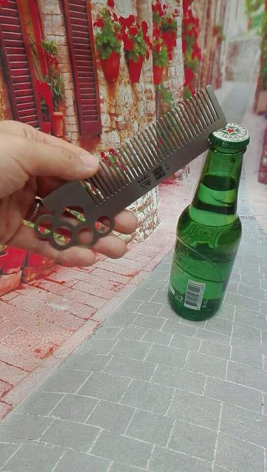 Stainless Steel Self Defense Comb Bottle opener 1613872 4