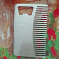 Rectangular comb opener bottle opener
