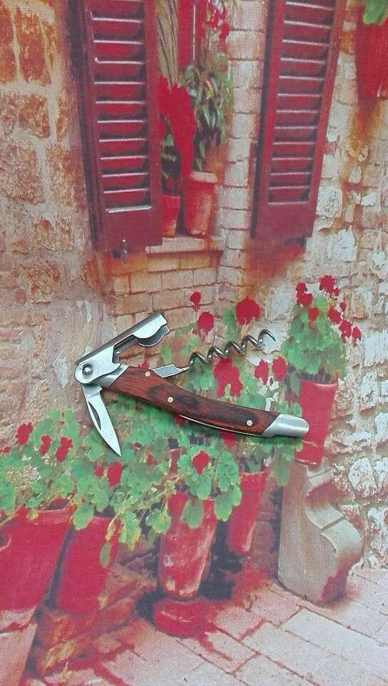 Side - side wood grain decorative wine bottle opener 1614012 3