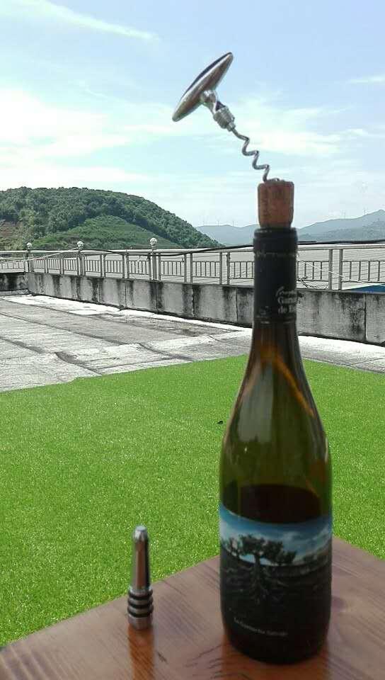 Metal decorative wooden bottle stopper  1614027 3