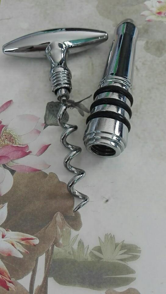 Metal decorative wooden bottle stopper  1614027 6