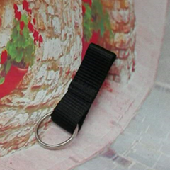 Customized design flexible elastic straps keychain 1609001