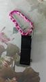 Customized design flexible elastic straps keychain 1609001