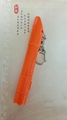 Plastic ball pen with white barrel,colorful clip