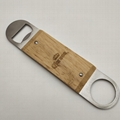 Wooden Cover Speed Stainless Steel Bottle Opener 1613812