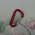 Factory wholesale 4cm 5cm 6cm 7cm 8cm flat carabiner as bag part or keychain