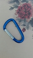 Factory 4cm 5cm 6cm 7cm 8cm  round carabiner colorful full paint keychain