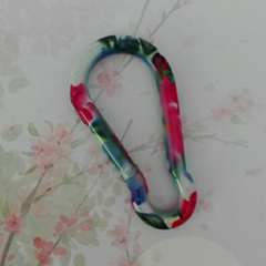 Factory 4cm 5cm 6cm 7cm 8cm bar carabiner colorful full paint keychain