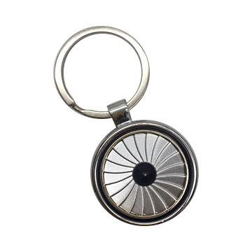 wheel spinning zinc alloy keychain 1610002