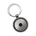 wheel spinning zinc alloy keychain 1610002
