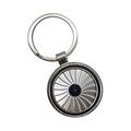 wheel spinning zinc alloy keychain
