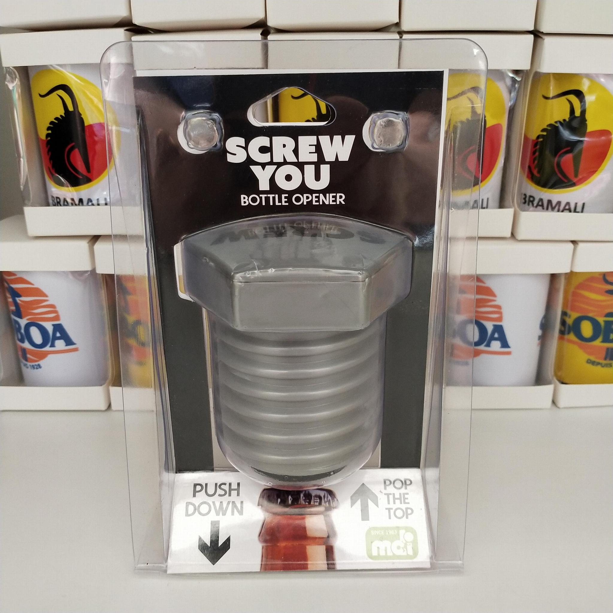 Screw hext nut design automatic push down bottle opener 1612008 6