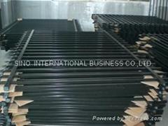 Black Matte Iron Railings, Made of Hot-dipped Ga  anized Steel Materia