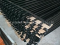 Black Matte Iron Railings, Made of Hot-dipped Galvanized Steel Materia