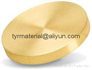 純黃金Au濺射靶材,蒸發鍍膜材料 1