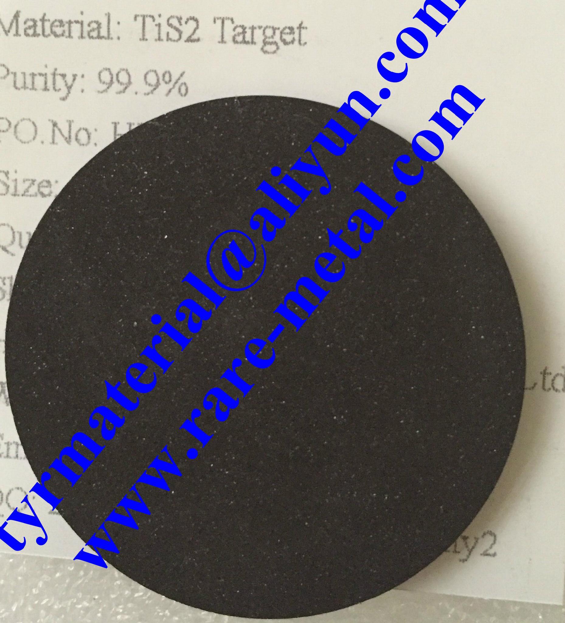 Titanium sulfide TiS2 sputtering targets