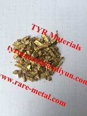 Gold-Beryllium AuBe alloy granules
