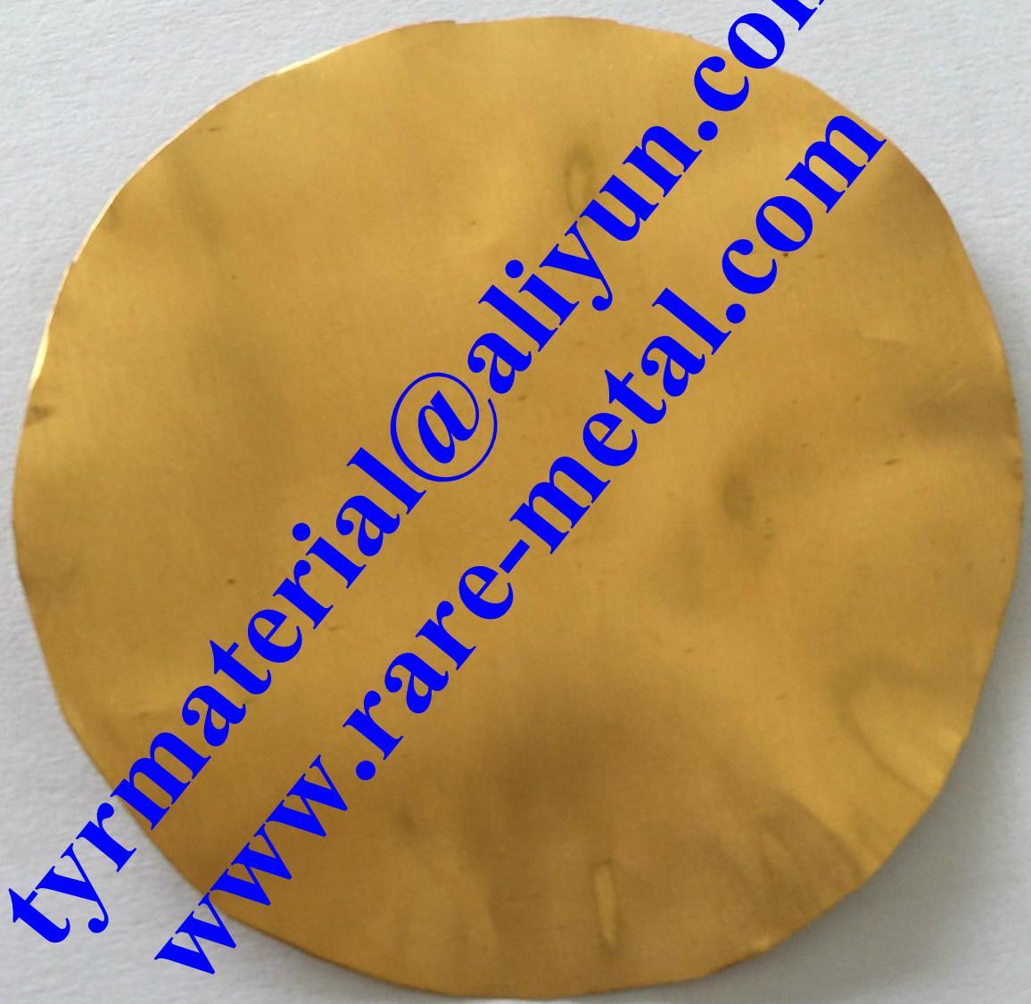 纯黄金Au溅射靶材,蒸发镀膜材料 2