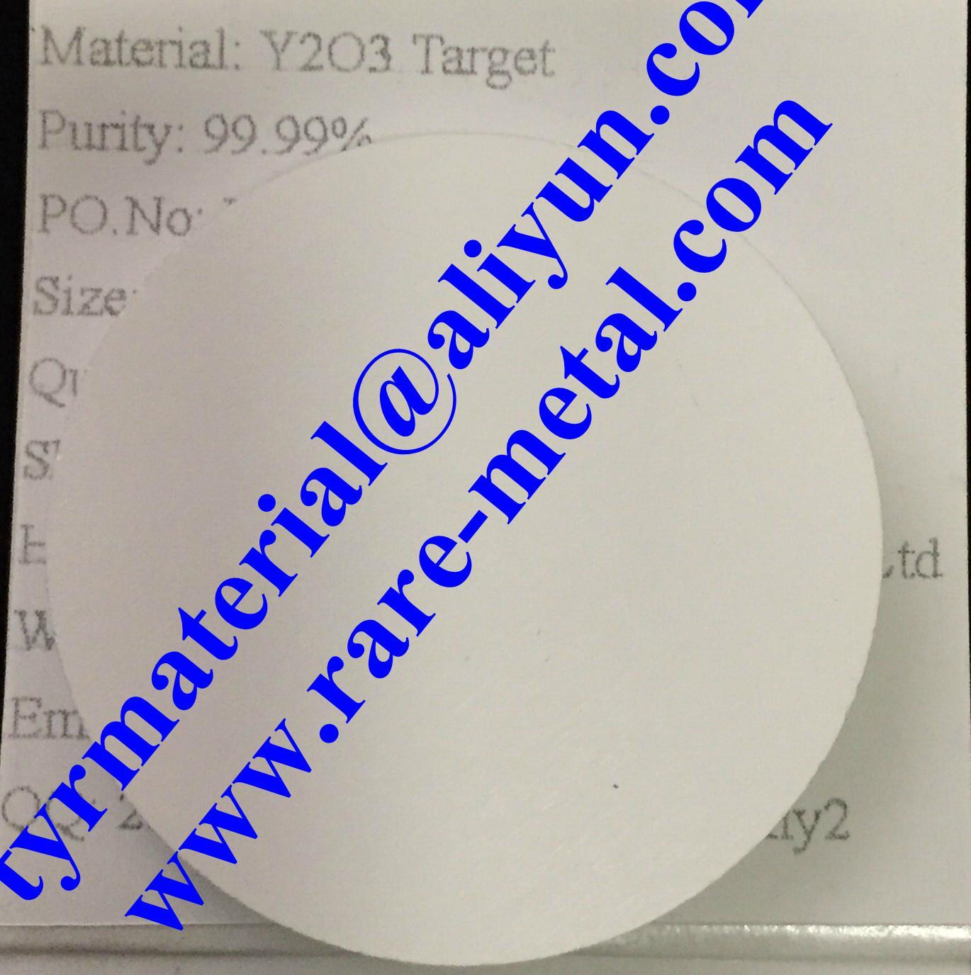 Yttrium(III) oxide Y2O3 targets
