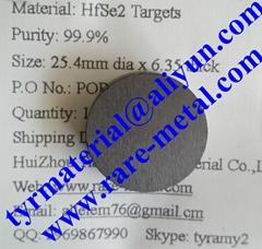 Hafnium Selenide HfSe2 targets use in thin film coating CAS 12162-21-9